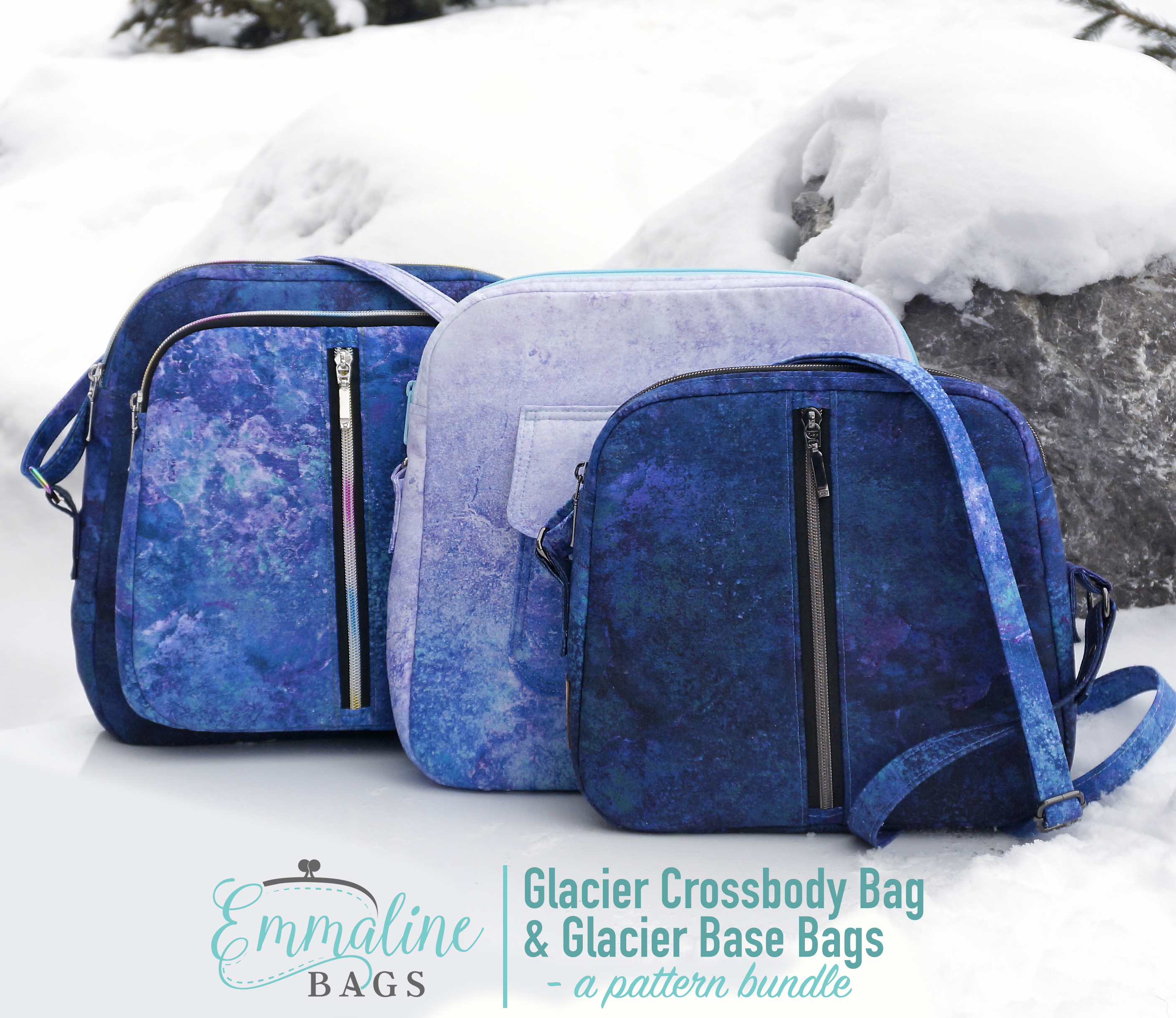 The Glacier Crossbody & Glacier Base Bags by Emmaline Bags