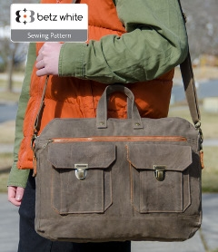 Ravenwood Messenger Bag by Betz White